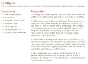 Raspberry Thumbprint Cookies (Recipe)
